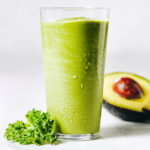chocolate green shake - green smoothie in glass