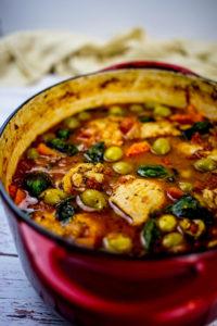 Spanish chicken stew Dutch oven recipe--best Dutch ovens