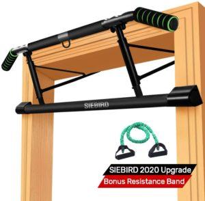 SIEBIRD Pull Up Bar for Doorway with Mount Hook--best home gym equipment