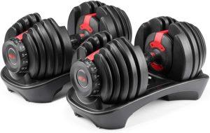 Bowflex SelectTech 552 - Two Adjustable Dumbbells--best home gym equipment