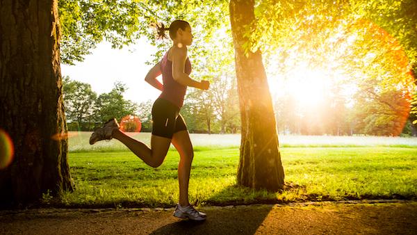 exercising in heat - running in shorts