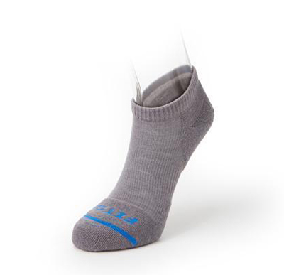 best running socks - light titanium