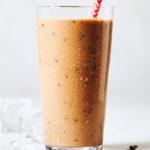 vegan keto chocolate shake - in glass