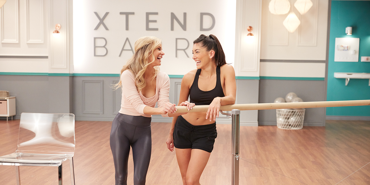 xtend barre - andrea and student