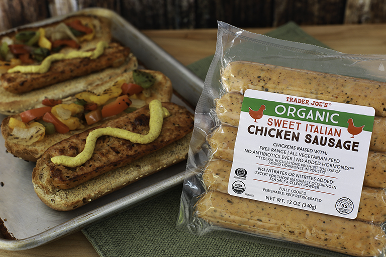 trader joes sugar free 3 approved - sweet italian chicken sausage