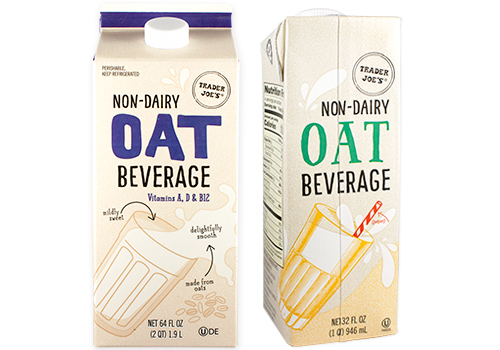 sugar free 3 trader joes - oat beverage