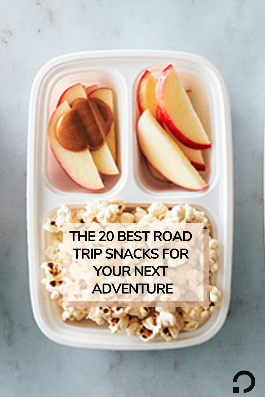 pin image for roadtrip snacks | healthy roadtrip snacks