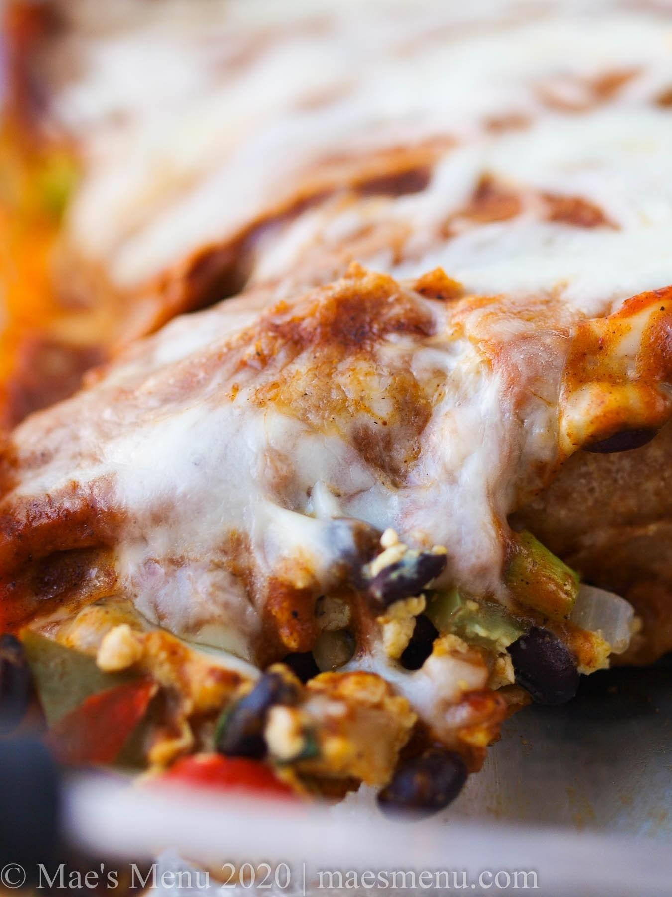 cheap meal prep - veggie enchiladas