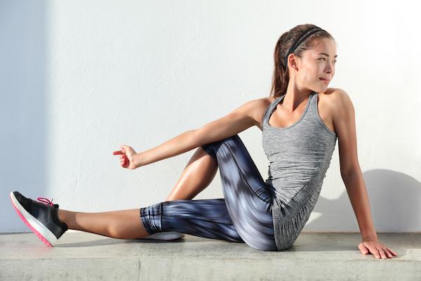 what is fascia - leg stretch