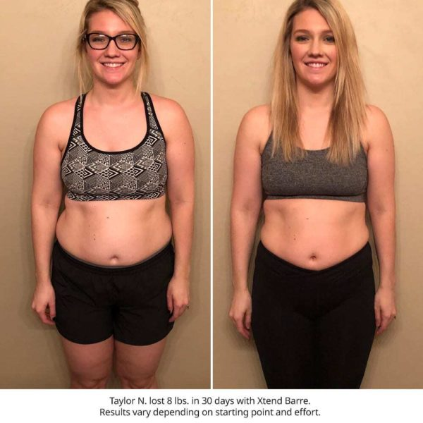 xtend barre results - taylor n