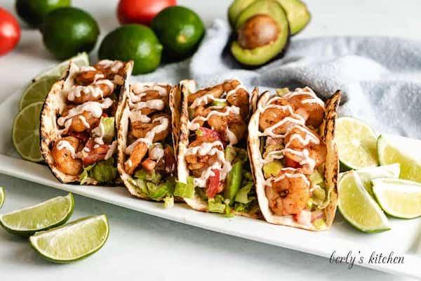 shrimp recipes - grilled shrimp tacos