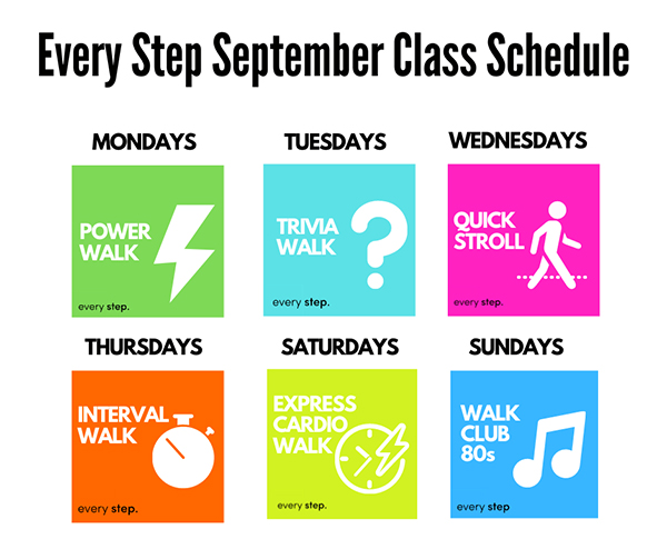 Every Step Class Schedule