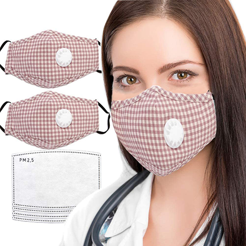plaid cloth mask | masks for air pollution