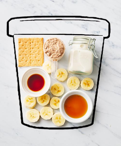 ingredients for smores pbps ice cream | smores pbps ice cream