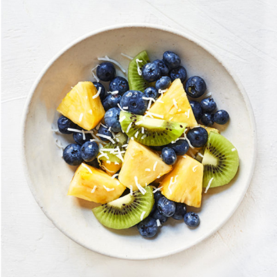 bowl of fruit salad   sugar free 3 approved desserts