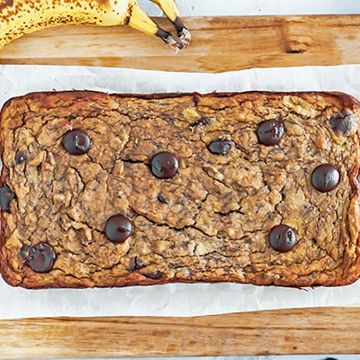 plated banana bread | sugar free 3 approved desserts