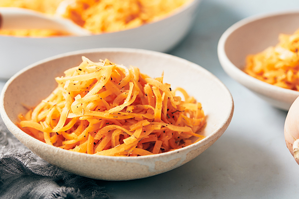 bowl of butternut squash noodles | how to cook butternut squash