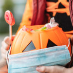 halloween pumpkin with a mask | alternatives to trick or treating