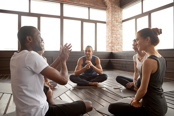 group talking after meditation | meditation for beginners