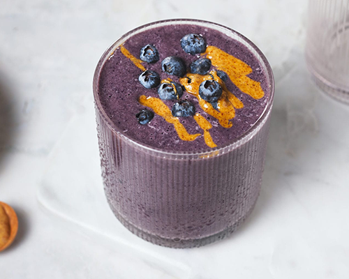 Chocolate Blueberry Protein Shake | creative recipes with pbps