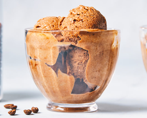 Chocolate Mocha Protein Ice Cream | creative recipes with pbps