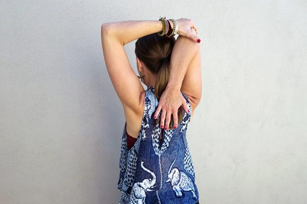 hand to elbow stretch | yoga shoulder stretches
