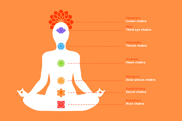 graphic of the 7 chakras | chakras