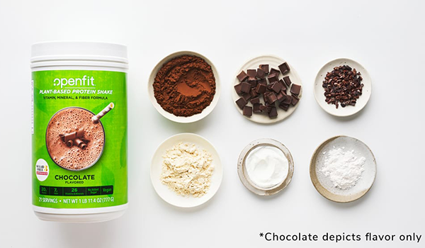 openfit plant-based protein shake ingredients | meal replacement