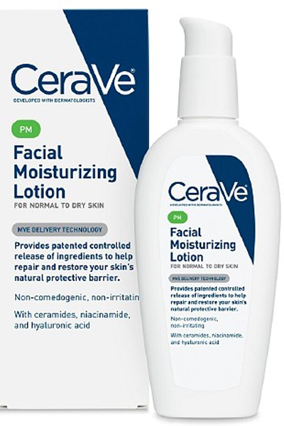 cera ve moisturizer | andrea rogers skin care routine