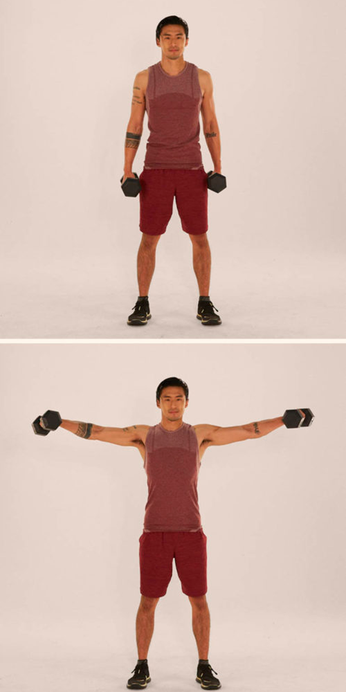 lateral raise demonstration | apartment exercise