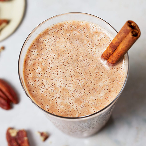 cup of chocolate pecan pie shake   creative recipes with recovery