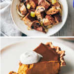 collage of vegan thanksgiving sides | vegan thanksgiving sides