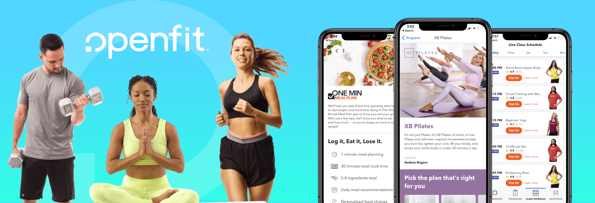 Openfit workout and nutrition app
