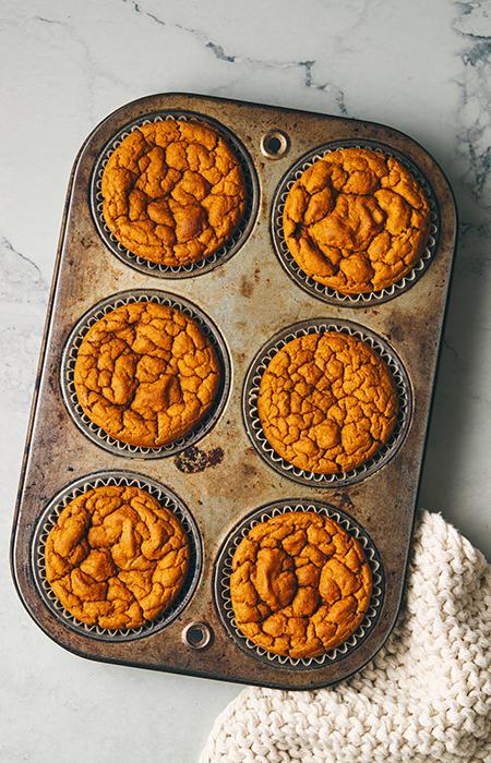 tray of sweet potato muffins | sweet potato muffins