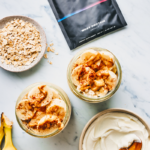 healthy overnight oats next to ladder packet oatmeal recipe