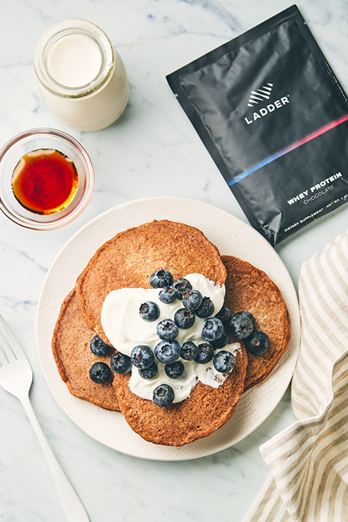ingredient image for blueberry protein pancakes | blueberry protein pancakes