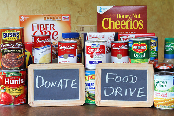 canned and dried foods | how to donate to a thanksgiving food drive