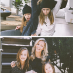 collage of andrea and her kids | how andrea rogers stays active with her kids