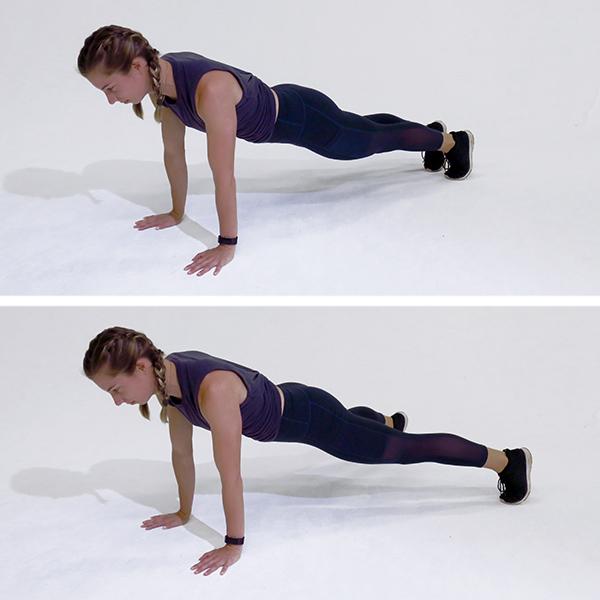 plank jacks demonstration | sit up alternatives
