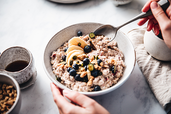bowl of oatmeal | eat the same thing every day