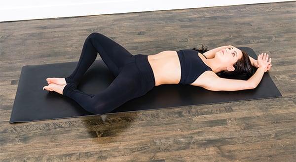 reclined bound angle | live trainer jennifer
