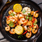 cooked shrimp in cast iron pan | how to cook shrimp