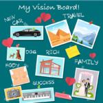illustration of vision board | vision board