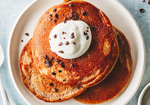 chocolate protein pancakes | thanksgiving guide