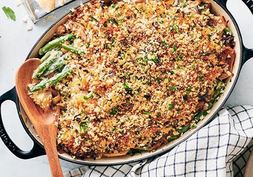 healthier green been casserole | thanksgiving guide