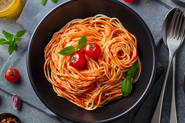 bowl of spaghetti | balanced meal