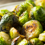 cooked and plated brussels sprouts | how to cook brussels sprouts