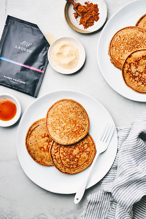 gingerbread pancakes with ingredients | gingerbread pancakes