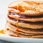 stack of gingerbread oatmeal pancakes | gingerbread pancakes
