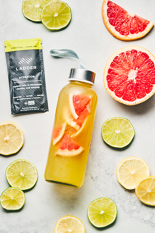 ladder hydration with grapefruit | hydration grapefruit hack